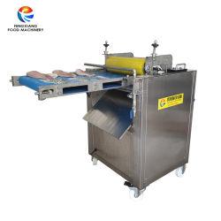 Salmón Industrial de la piel de pescado pelar quitando el calamar Desollando máquina