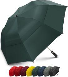 Ombrello della famiglia ombrello piegante di golf di 58 pollici con il grande doppio baldacchino scaricato antivento - forte Portable surdimensionato - pieghevole ad appena 23 pollici
