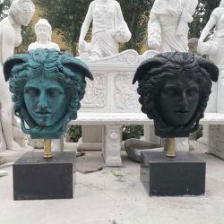 O bronze personalizado Medusa Head arte grega Decoração Busto Escultura Estátua