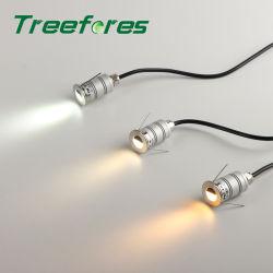 إضاءة حمام صغيرة LED بسقف 12 فولت 20 مم، 1 واط، IP67