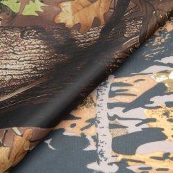 China PU Impreso camuflaje recubierto de poliéster 420D FDY Vestido de la bolsa de tejido Oxford