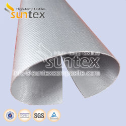 0,4 mm ignifugação de isolamento térmico de fibra de vidro revestido de silicone macio