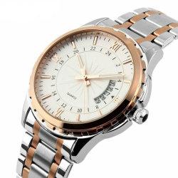 Stainesss personnalisée en usine OEM de l'acier étanche Gold Quartz hommes montre-bracelet montres de luxe