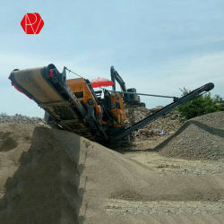 Luogo mobile della cava della pianta del frantoio per pietre del buon cingolo di prezzi