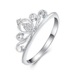 925 серебристые украшения Короны Cute очаровательный Королевский кольцо для женщин девочек