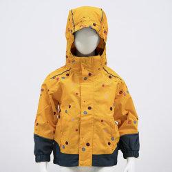 Kinderen Raincoat Colorfull with Hood Windcoat Windbreaker reflecterend jack waterdicht