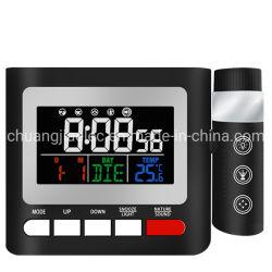 ساعة منبه جهاز العرض مع راديو FM وشاحن USB لمدة السقف
