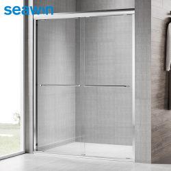 Befestigungsteile passten Größen-Aluminium gestaltete rechteckige Überbrückungs-Dusche-Gehäuse-Dusche-Tür an