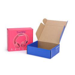 Kundenspezifische Wellpappe Verpackung Emballage Karton Kopfhörer Elektronik Verpackung Kabel Verpackung