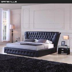 Style classique, lit King Size pour chambre à coucher Meubles avec bouton de cristal Gc1632