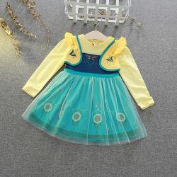 Печать чистой пряжи склейки платье для отдыхающих лицемерия нанесите на платье для вязания одежды для вязания одежду малыша по пошиву одежды для детей Детский износа одежды