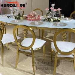 Mobilier de mariage créatif de l'acrylique de dossier de fauteuil en cuir moderne