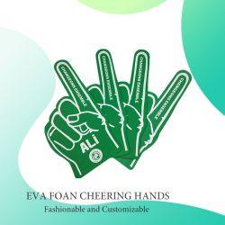 Espuma de EVA de Promoção de Design Personalizado Torcendo Gigante Luvas Torcendo Mãos Barato preço dedos de Espuma