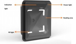 Q300 1D 2D QR 코드 무선 및 스캐너 바코드 액세스 제어 턴스 봉딩 머신을 위한 RFID 스마트 카드 및 NFC 판독기 바코드 판독기