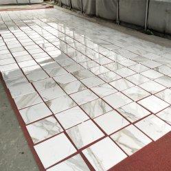 Pietra di marmo bianca di Calaeatta per i controsoffitti/Worktops/Vanitytops delle lastre delle mattonelle di pavimentazione