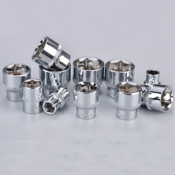 1/4 3/8 1/2 de cromo-vanadio Pulido Llave corto Hex.