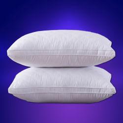 호텔 특별한 기털 우단 단단한 면 베개 코어에 의하여 누비질되는 베개 호텔 가구 목 베개