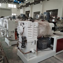 Sjsz-55/110 extrusora de duplo fuso cónico para plástico PVC CPVC UPVC WPC Perfil Tubo Grânulo fazendo com o tipo de caixa de velocidades vertical integral