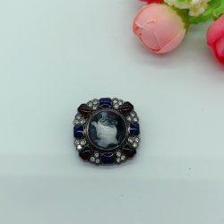 Venta de Cristal Flor personalizados de gran tamaño de los botones de metal Rhinestone Perla Elegante botón botón Flat-Back adornos para la ropa