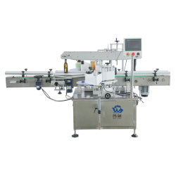 Automatische dubbele zijde vierkante platte ronde fles Sticker labeling machines/labels/ Label machine