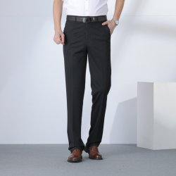 공장 도매 새 디자인 패션 의류 코튼 맨 정장 바지 찢은 스트레치 스탁 고급 바지