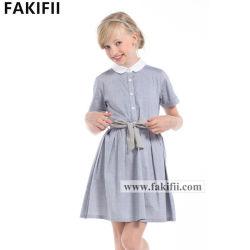 Hochwertiges Großhandelskind-Kleid-neues Art-Form-Mädchen-Jeans-Kleid