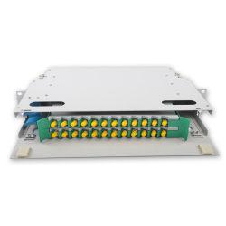 FTTH ODF 24ポートSt 1uのターミナルパッチ・パネルの光ファイバ24のポートのラックマウントの光学端子盤ODF