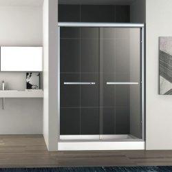 Liga de alumínio emoldurado deslizando chuveiro porta 8mm Vidro Temperado Chuveiro Compartimento do Gabinete de Quarto de Banho Duche cabina de duche com Chuveiro