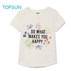 Прелестная юниоров Топс Teen Girl тройник Funny T кофта малышу малыша из чистого хлопка печати короткие втулки футболка