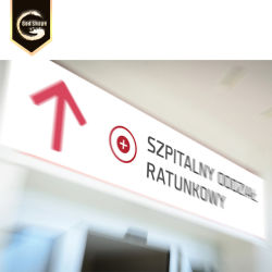 Casella chiara di grande di pubblicità esterna di GS Cina della memoria dell'acrilico LED del segno consiglio anteriore su ordinazione dell'ospedale--0411