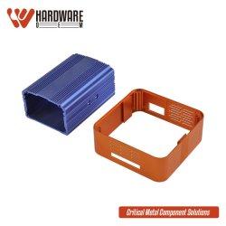 Personalizar perfis extrudados de alumínio HDD caixa do compartimento para o dissipador de calor com componentes eletrônicos