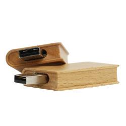 Le bois en vrac Hot-Selling U de disque du lecteur Flash USB 8 Go