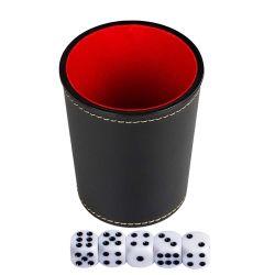 PU 거푸집 셰이커 게임 세트를 가진 가죽 거푸집 컵