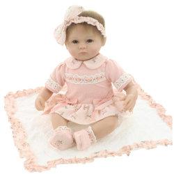 실물 같은 18인치 거듭나는 베이비 소프트 실리콘 비닐 리얼 터치 돌형 아이들을 위한 멋진 Newborn Baby Birthday 선물