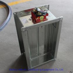 HVAC Volet d'incendie du conduit d'acier galvanisé avec actionneur