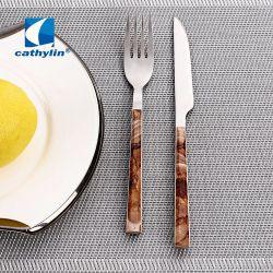 Design A Caldo Manico In Plastica Con Motivo In Acciaio Inox Set Di Posate In Metallo, Fruit Knife E Forchetta