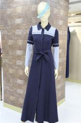 L'islamique musulmane occasionnels Grage Maxi robe veste coupe-vent à manchon long avec la courroie pour dames