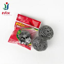 Cocina y limpieza de olla de alambre de acero inoxidable Scourer Scrubber Metal