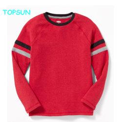 Los niños de manga larga algodón banda chicos sudaderas cuello redondo Camiseta Color empalmado Prendas personalizadas