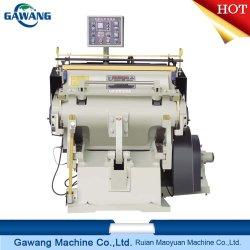Manuelles Blatt-führende Fertigkeit heiße Papierfolie, die faltende und stempelschneidene Maschine mit entfernender Funktion stempelt