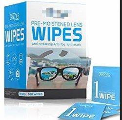 Xyn jetables Lingettes de nettoyage pour lunettes