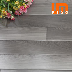 Office를 위한 V-Groove 독일제 Class 32 High Glossy 8mm 12mm 빛 회색 Gray Oak Wood Wooden Waterproof Floating Vinyl Spc Laminate/Laminated Flooring