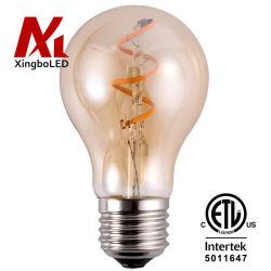 A60 A19 3W Solf flexible réglable sans scintillement à filament E27 E26 Ampoule LED pour éclairage de l'hôtel