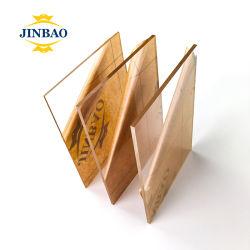 Jinbao 4mm 6mm 8mm 10mm Chapa Iridescente lamina techo de mármol Efecto Madera acrílica de alta densidad