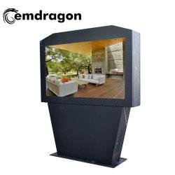 65-дюймовый экран по горизонтали системы кондиционирования воздуха пола наружной рекламы машины сенсорной системы Android Программа просмотра цифровых фотографий интерактивный автомобиль TV плеер по шине CAN