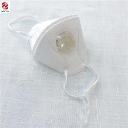 Plegado respirador desechable blanco de protección de la válvula de NIOSH Mascarilla N95