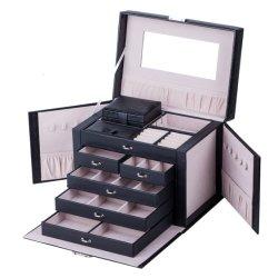 صندوق مجوهرات للبيع الساخن / مخزن مجوهرات ملوّن قابل للطي / منظم مجوهرات سفر عالي الجودة