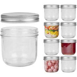 16oz Empty Mason boiões de vidro com tampas de preserva o congestionamento de casamento de gelatina Papinhas mel favorece Pickle Conservas de cozinha