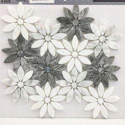 2018 Nuevos diseños decoracion moderna casa de piedra de mármol de las formas de Flor de exquisito Mosaico