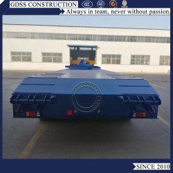 100ton 4 차축 자가 덤프 덤프장치 연료 탱크 오일 탱크 대형 장비 운송 평탄층 데크 Lowbed Truck Semi Trailer
